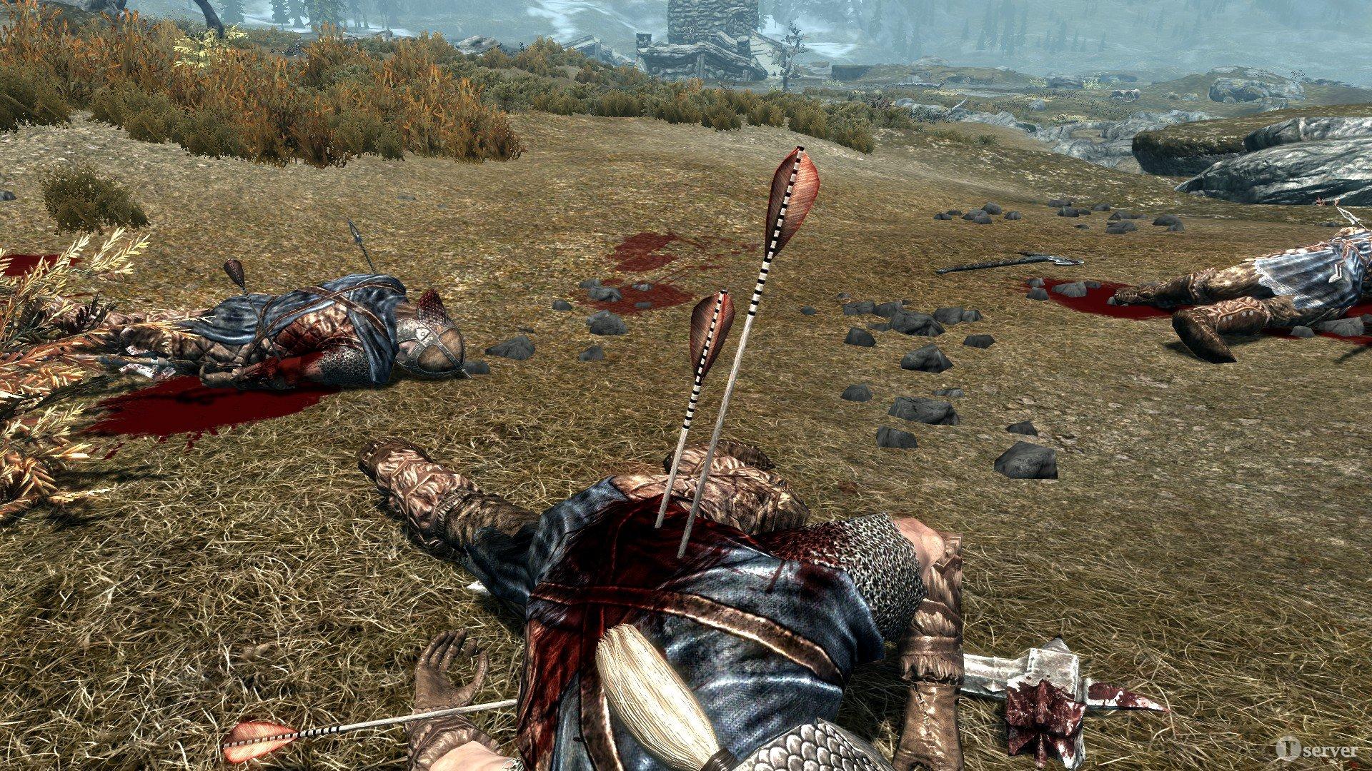 Скачать мод на Скайрим Много Крови