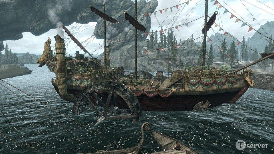 моды плавания на лодке для скайрим