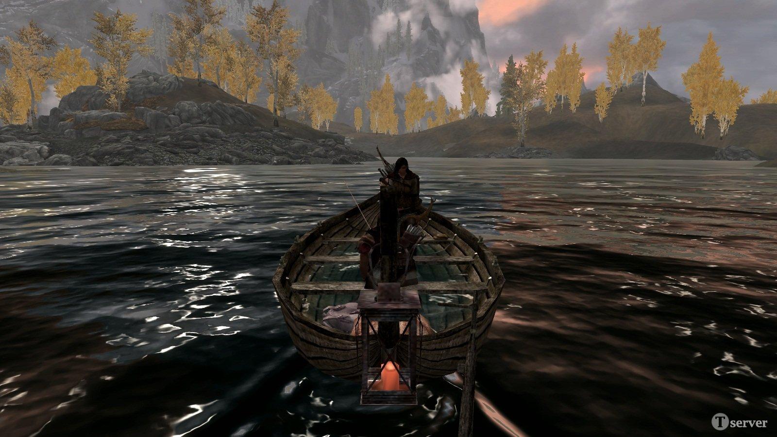 мод для плавание на лодке в скайриме