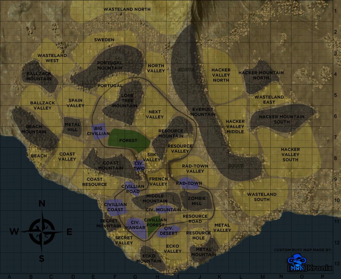 карта rust (map rust)